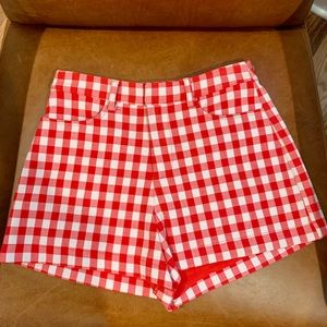 Honey Punch Cherry Gingham Shorts - Size XS